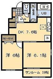 ブリーゼ・M[1階]の間取り