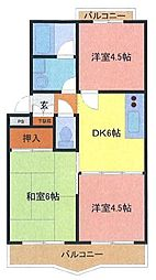 埼玉県さいたま市南区大字太田窪の賃貸マンションの間取り