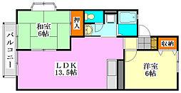 レジデンス小林[1階]の間取り