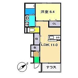 仮)南国市元町新築アパート[1階]の間取り
