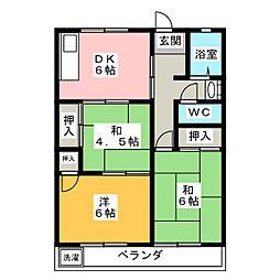 ハイツ内藤[1階]の間取り