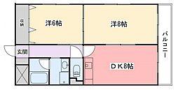 広畑中村コーポ[4階]の間取り