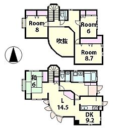 [一戸建] 滋賀県甲賀市甲南町希望ケ丘2丁目 の賃貸【/】の間取り
