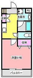 Sky City 元浜[1階]の間取り