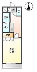 JR長崎本線 肥前麓駅 徒歩16分の賃貸アパート 1階1Kの間取り