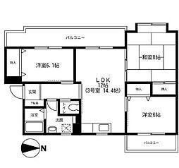 アネックス湘南[3階]の間取り