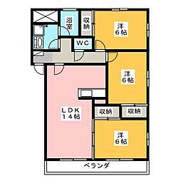 フレアシティM2[3階]の間取り