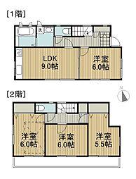 [一戸建] 東京都国分寺市日吉町4丁目 の賃貸【/】の間取り