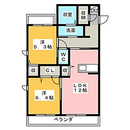 LAPIS LAZULI[3階]の間取り