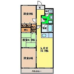 第15柴田マンション[3階]の間取り