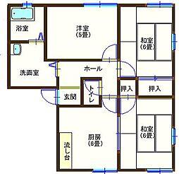 ラフォーレ山川5 102号室[1階]の間取り