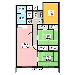 ラッフルズマンション[2階]の間取り