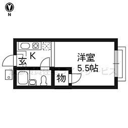 シャロン栗[4階]の間取り
