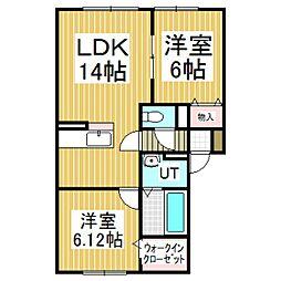 Maison de meme1号館[1階]の間取り