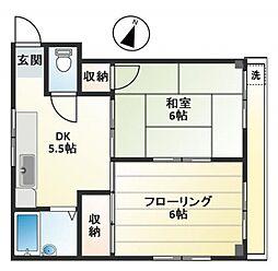 富士ハイツ bt[3階]の間取り