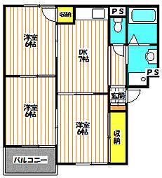 薊マンション[1階]の間取り