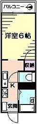 クレオ弘明寺[2階]の間取り