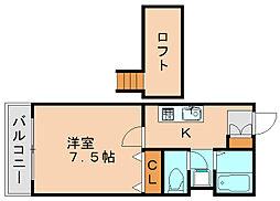 ルート舞松原[2階]の間取り