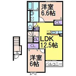 マーベラス A棟[2階]の間取り