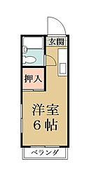 コーポ野田[306号室]の間取り
