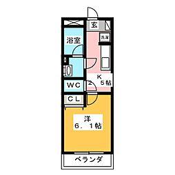I's岐阜駅前 5階1Kの間取り