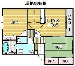 ネオメゾンKYOEI[2階]の間取り