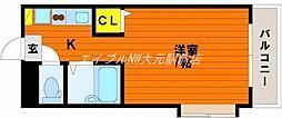 岡山県岡山市南区福富西1の賃貸マンションの間取り