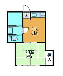 サンライズSK3[2階]の間取り