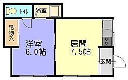 Mハウス[102号室]の間取り