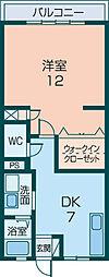 マンション香蘭[105号室]の間取り
