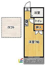 マキシム春日III[105号室]の間取り