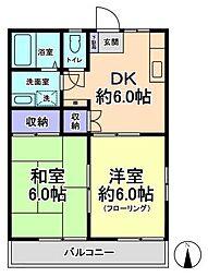 東京都日野市日野本町4丁目の賃貸マンションの間取り