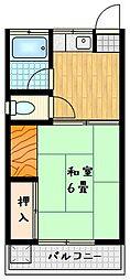 新栄荘[1階]の間取り