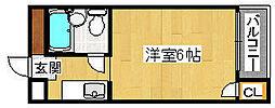 パークレイン堺[2階]の間取り