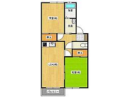 兵庫県西脇市和田町の賃貸アパートの間取り