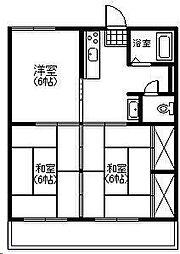 第1祇園ハイツ[403号室]の間取り