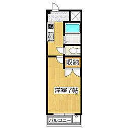 京都府京都市伏見区向島中島町の賃貸マンションの間取り