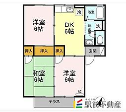 サニーハウスA[1階]の間取り