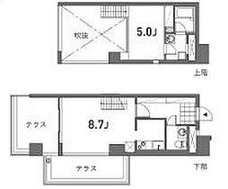 JR山手線 恵比寿駅 徒歩7分の賃貸マンション 7階1LDKの間取り