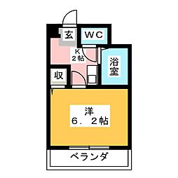 愛知県春日井市高蔵寺町4丁目の賃貸マンションの間取り