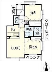 セントルシア[2階]の間取り