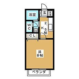 サン・FRIENDS赤塚[2階]の間取り