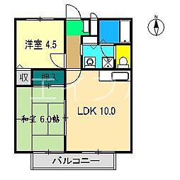 サニーコートMK[2階]の間取り