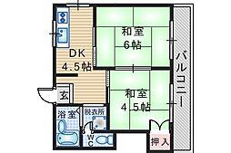 太原マンション[1階]の間取り