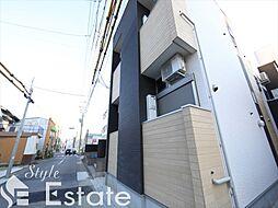 愛知県名古屋市東区百人町の賃貸アパートの外観