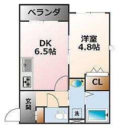 Base K[1階]の間取り