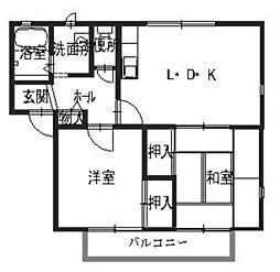 フレグランス大江島[1階]の間取り