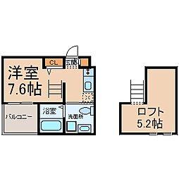 Haus Ruhe高畑 (ハウスルーエタカバタ)[1階]の間取り
