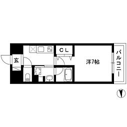 joule亀島 5階1Kの間取り