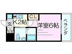 エステムコート新大阪8レヴォリス[4階]の間取り